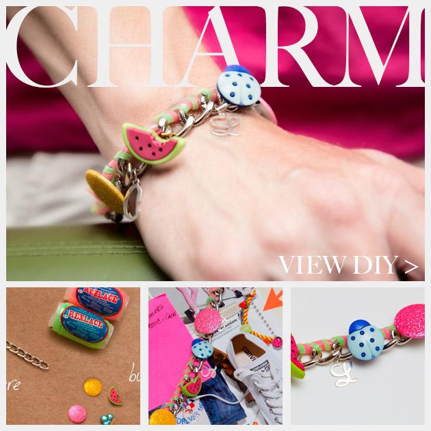 Candy Colored DIY Charm Bracelet Feature www.trinketsinbloom.com
