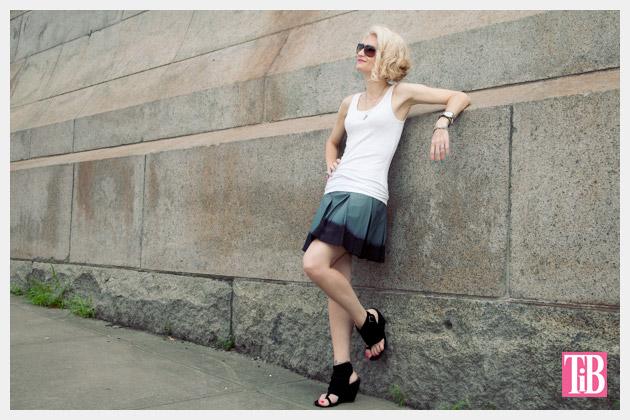 DIY Dip Dyed Pleated Skirt Tutorial Photo