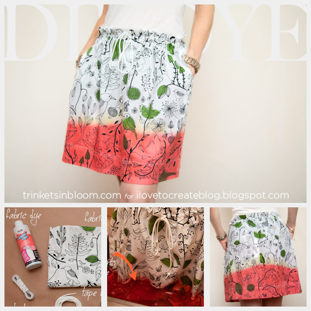 DIY Dip Dye Skirt Feature www.trinketsinbloom.com