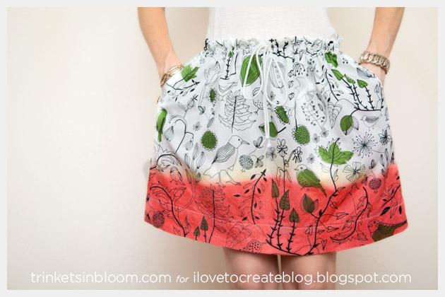 DIY Dip Dye Skirt Photo 2