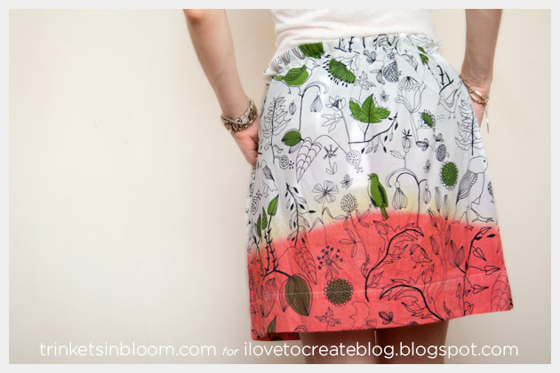 DIY Dip Dye Skirt Back View