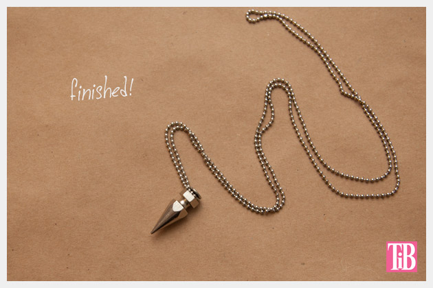 DIY Spike Necklace Finished