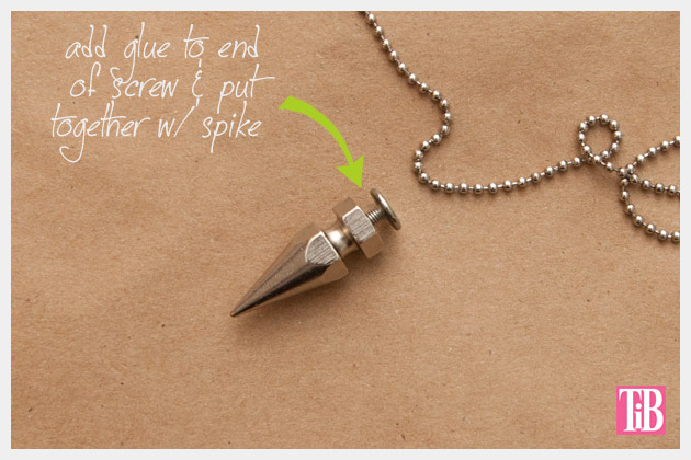 DIY Spike Necklace Closing Spike
