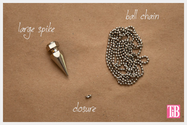 DIY Spike Necklace Supplies