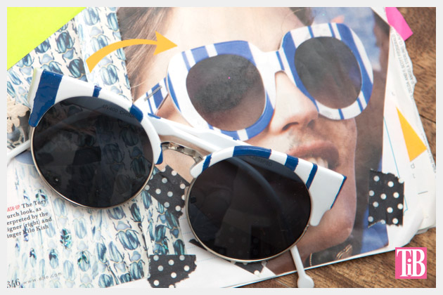 DIY Blue & White Striped Sunglasses Inspiration