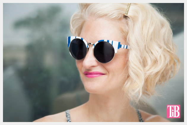 DIY Blue & White Striped Sunglasses Photo