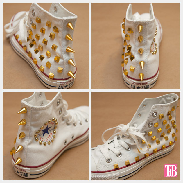 DIY Studded Converse Views of Finished Sneaker