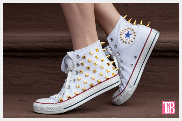 DIY Studded Converse Photo Side View 2