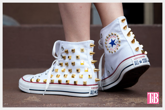 DIY Studded Converse Photo Back View