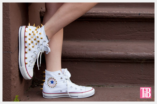 DIY Studded Converse Photo Side View