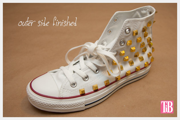 DIY Studded Converse Outer Side Finished