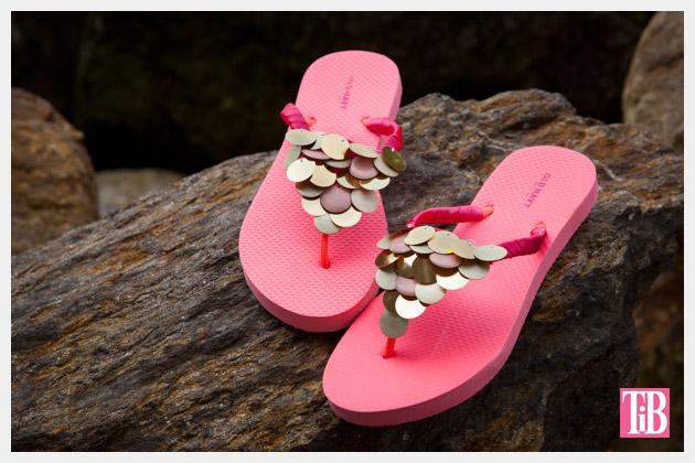 DIY Flip Flops with Paillettes Photo 1