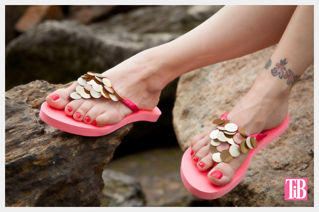 DIY Flip Flops with Paillettes Photo 2