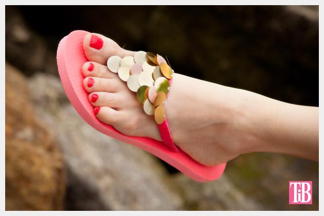 DIY Flip Flops with Paillettes Photo 3