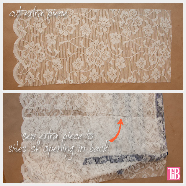 DIY Lace Tank with Ribbon Extra Piece for Back