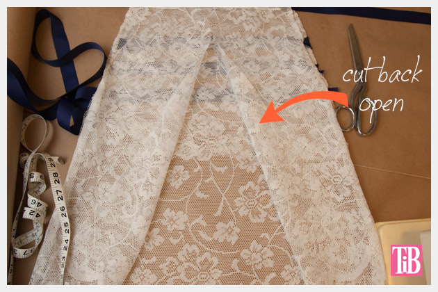 DIY Lace Tank with Ribbon Cut Back