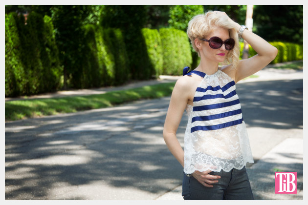 DIY Lace Tank with Ribbon Photo 1