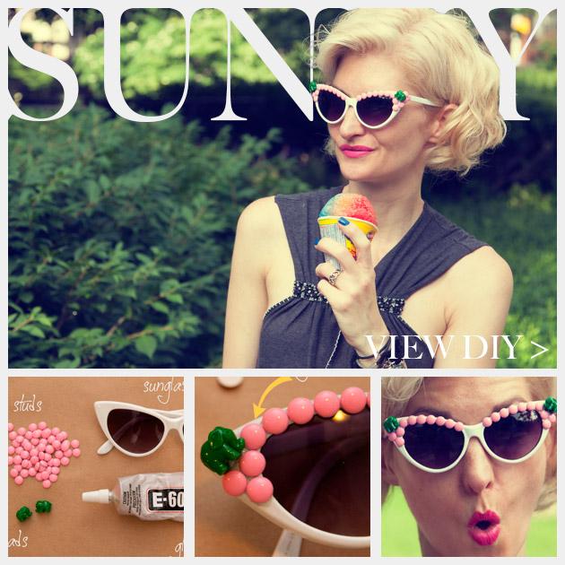 Pink and Green Elephant DIY Sunglasses Feature www.trinketsinbloom.com