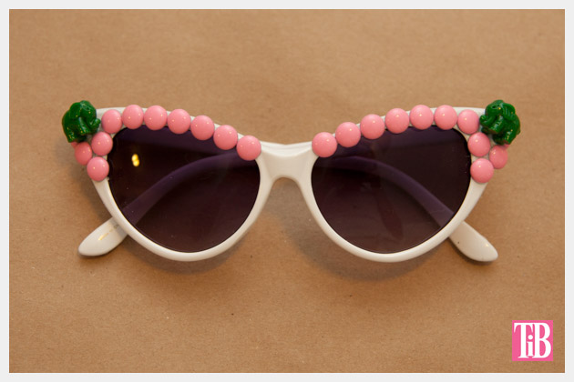 Pink and Green Elephant DIY Sunglasses Finished