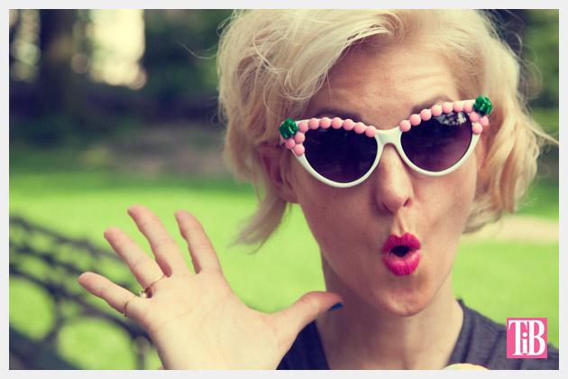 Pink and Green Elephant DIY Sunglasses Photo 2