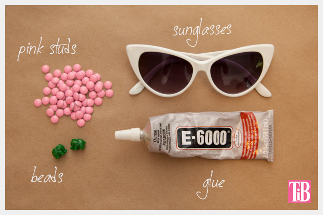 Pink and Green Elephant DIY Sunglasses Supplies