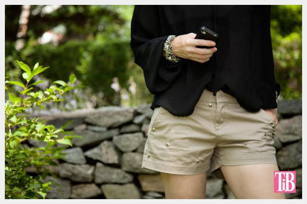 DIY Studded Shorts Photo