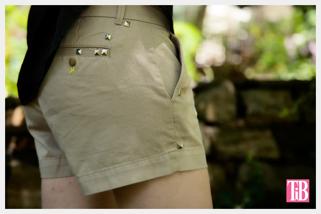 DIY Studded Shorts Back