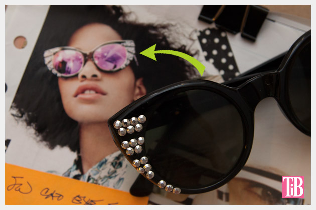 DIY Sunglasses with Silver Nailheads Inspiration