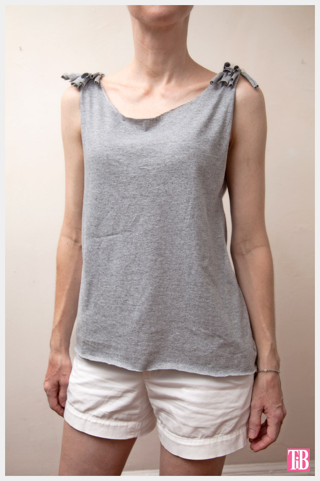 DIY Tank Top with Shoulder Fringe Photo Front