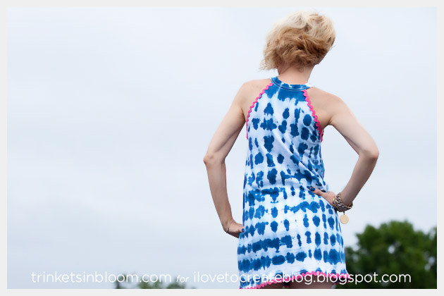 Tie Dye Beach Cover Up Back View