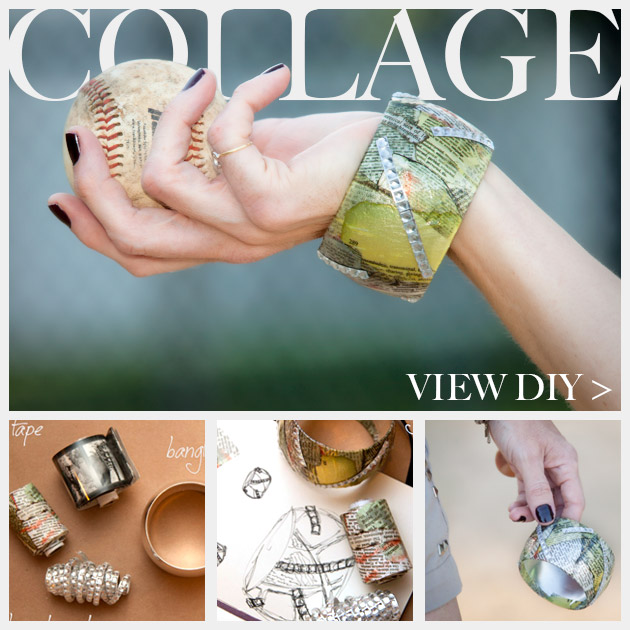 DIY Bangle Bracelet with Tape Feature www.trinketsinbloom.com