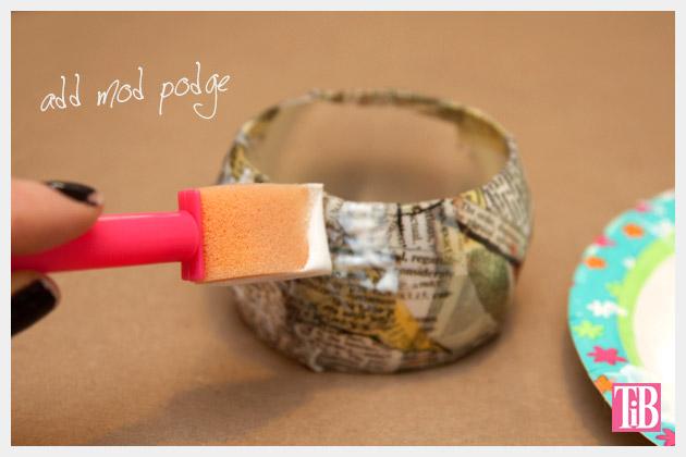 DIY Bangle Bracelet with Tape Mod Podge