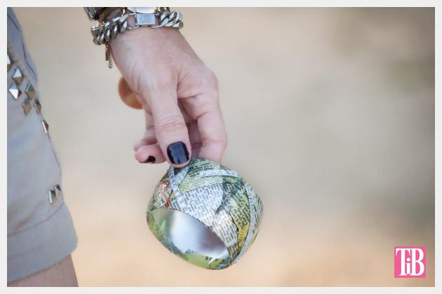 DIY Bangle Bracelet with Tape Photo Holding Bracelet