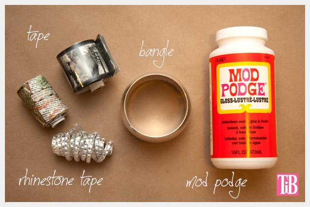 DIY Bangle Bracelet with Tape Supplies