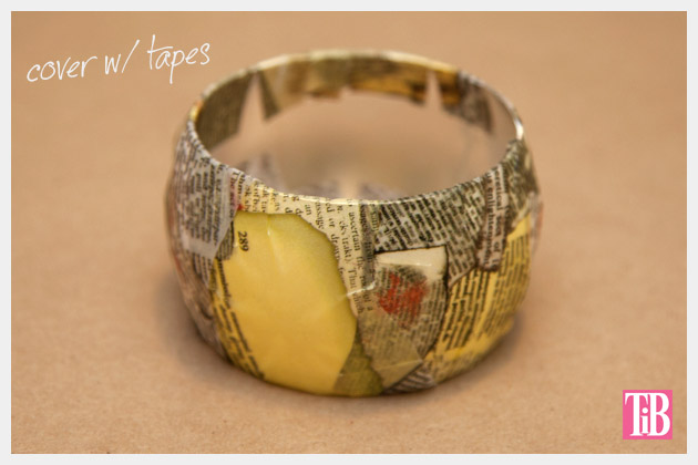DIY Bangle Bracelet with Tape All Taped