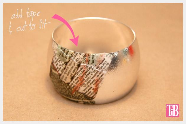 DIY Bangle Bracelet with Tape Taping