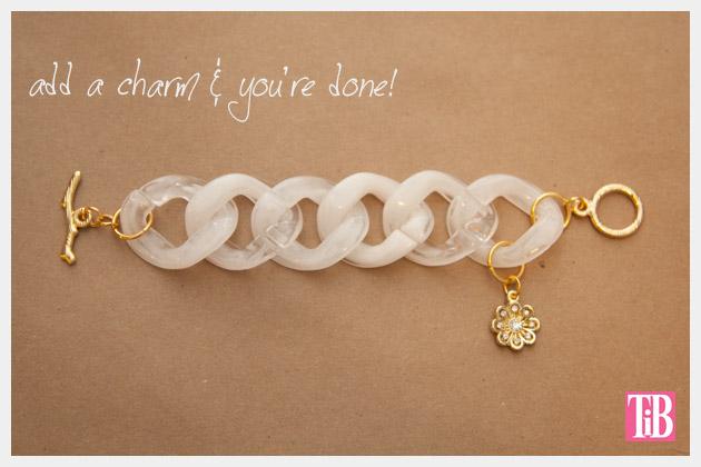 Large Plastic Chain Bracelet DIY Finished