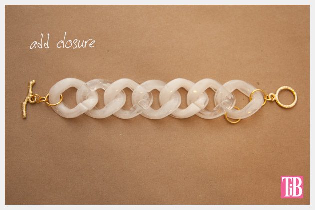 Large Plastic Chain Bracelet DIY Adding Closure