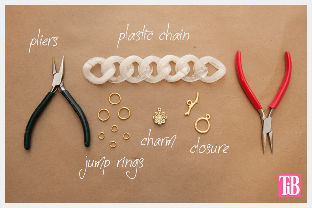 Large Plastic Chain Bracelet DIY Supplies