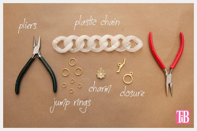 Large Plastic Chain Bracelet DIY Supplies