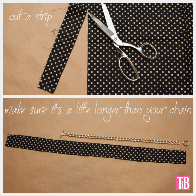 Dear Stella Fabrics DIY Woven Chain Bracelet Cutting a Fabric Strip