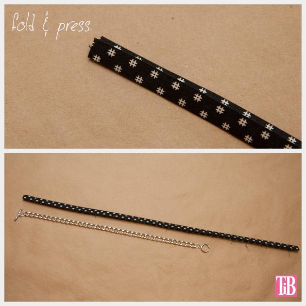 Dear Stella Fabrics DIY Woven Chain Bracelet Folding and Pressing