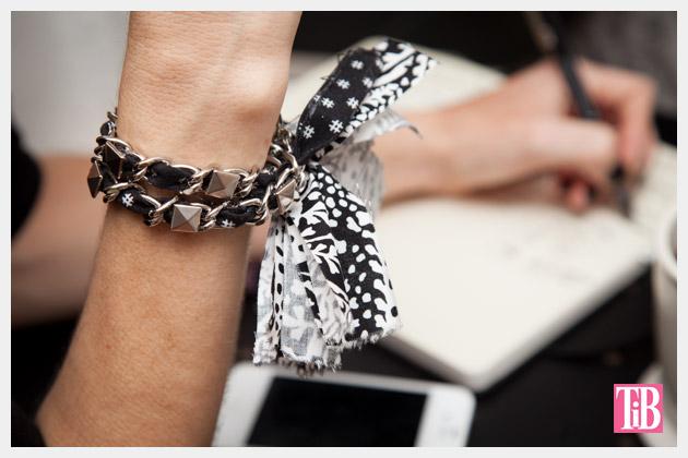 Dear Stella Fabrics DIY Woven Chain Bracelet Close Up