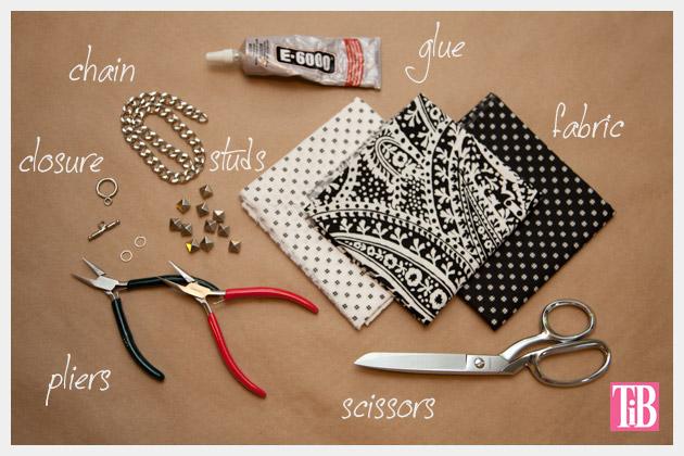Dear Stella Fabrics DIY Woven Chain Bracelet Supplies