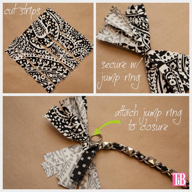 Dear Stella Fabrics DIY Woven Chain Bracelet Making the Tassel