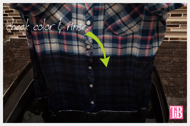 Dip Dye Plaid Shirt Check Color