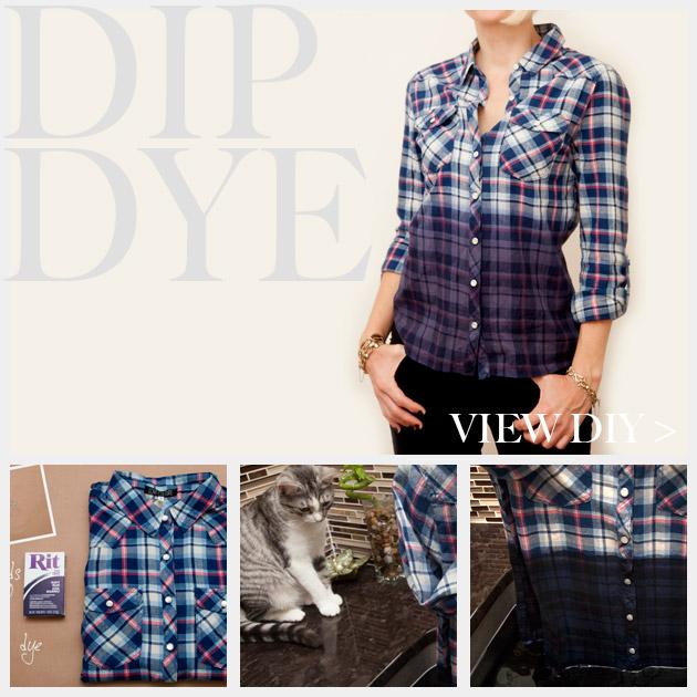 Dip Dye Plaid Shirt www.trinketsinbloom.com