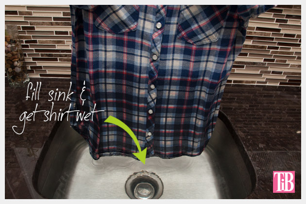 Dip Dye Plaid Shirt Wet Your Shirt