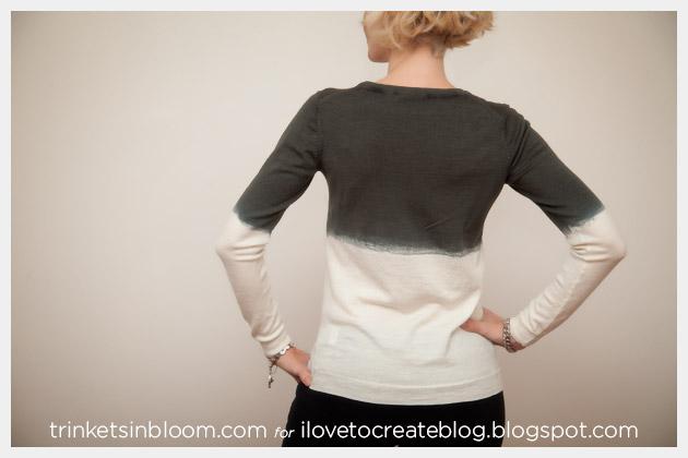 Dip Dye a Wool Sweater Back View