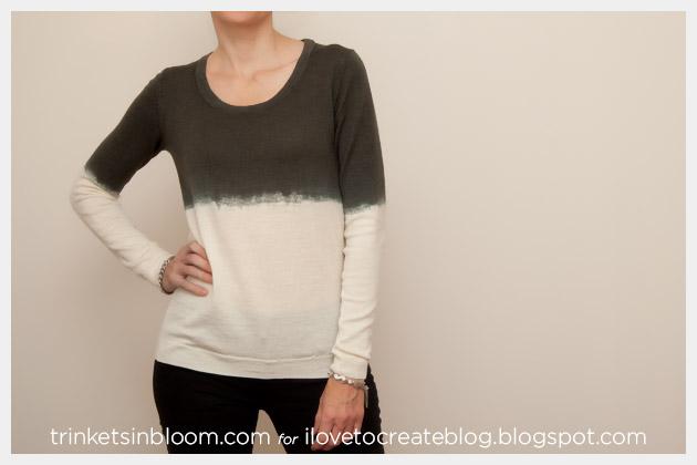 Dip Dye a Wool Sweater Photo 1
